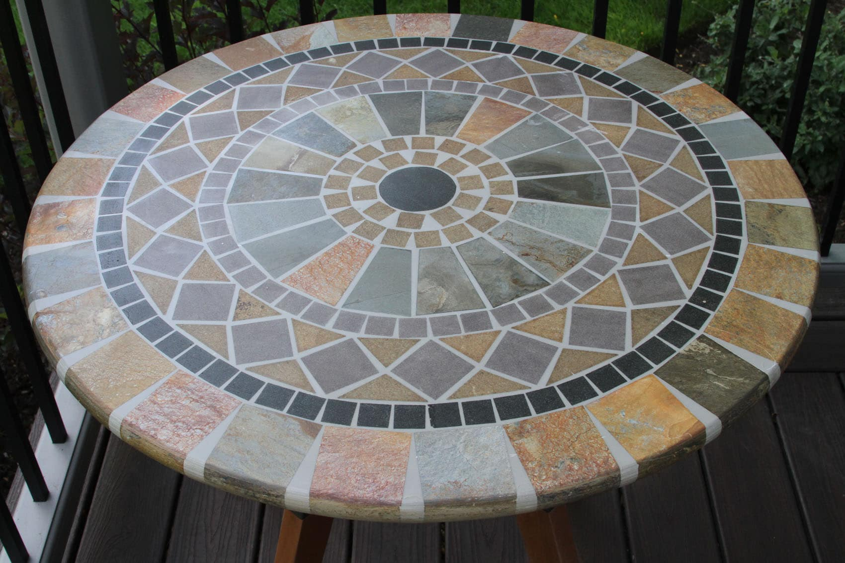 Sandstone Mosaic Bistro Table Top