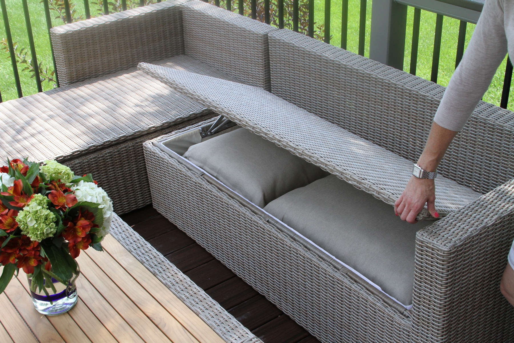 Wicker Outdoor Furniture With Storage
