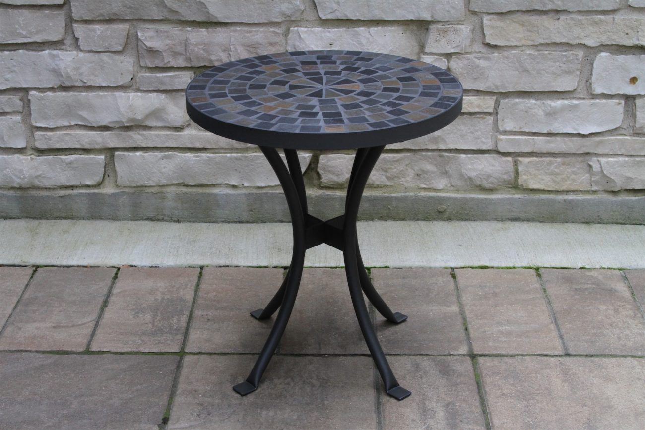 """18"""" Slate Mosaic Accent Table"""